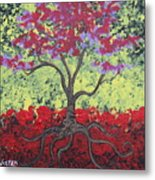 Little Red Tree Metal Print
