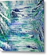 Little River Canyon Ice Storm Metal Print