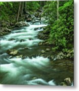 Little River Tremont Area Of Smoky Mountains National Park Metal Print