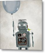 Little Robot Metal Print