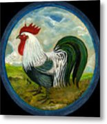 Little Rooster Metal Print by Anna Folkartanna Maciejewska-Dyba