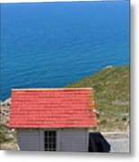Little Shack At The Point Reyes Lighthouse In California . 7d16020 Metal Print by Wingsdomain Art and Photography