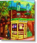 Little Shop On The Corner Metal Print