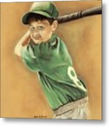 Little Slugger Metal Print by Robin Martin Parrish