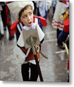 Little Soldier Metal Print