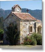 Little Stone Chapel In Vineyards Of Napa Valley Metal Print