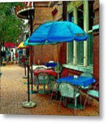 Little Street Cafe Metal Print