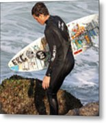 Little Surfer Dude Metal Print