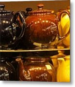 Little Teapots Metal Print