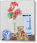 Little Ted Metal Print