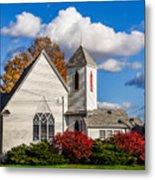 Little White Church Metal Print