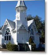 Little White Church Metal Print
