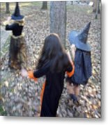 Little Witches Metal Print