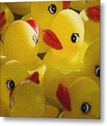 Little Yellow Duckies Metal Print