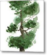 Little Zen Tree 144 Metal Print