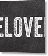 Live Love Bake Metal Print
