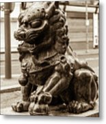 Liverpool Chinatown - Chinese Lion A Metal Print