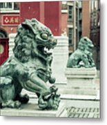 Liverpool Chinatown - Chinese Lion D Metal Print