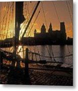 Liverpool, England View From Albert Dock Metal Print