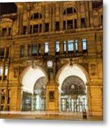 Liverpool Exchange Railway Station By Night Metal Print