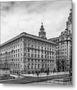 Liverpool Royal Liver And Cunard Buildings Metal Print