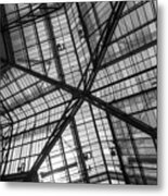 Liverpool Street Station Glass Ceiling Abstract Metal Print