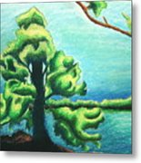 Living By The Water Metal Print