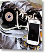 Living In Converse Resting Time  Metal Print