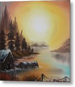 Living On A Lake Metal Print