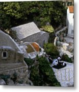 Living On The Cliffside Metal Print
