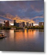 Living On The Willamette River Metal Print