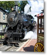 Living Steam Metal Print