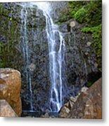 Living Waters - Wailua Falls Maui Metal Print