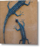 Lizard Art Metal Print