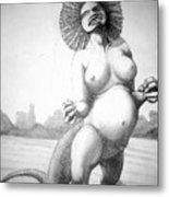 Lizard Girl Metal Print