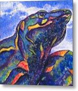 Lizard In The Desert 2 Metal Print