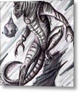 Lizard Warrior Metal Print