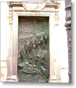 Ljubljana Bronze Church Door Metal Print