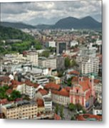 Ljubljana Slovenia With Karawanks, Kamnik Savinja, Limestone Alp Metal Print