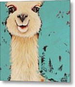 Llama Sid Metal Print