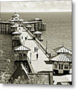 Llandudno Pier North Wales Uk Metal Print