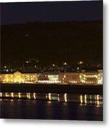 Llandudno Promenade At Night. Metal Print
