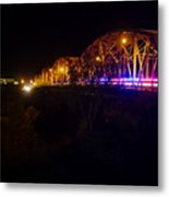 Llano Bridge At Night Metal Print