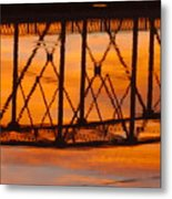 Llano Bridge Reflection Metal Print