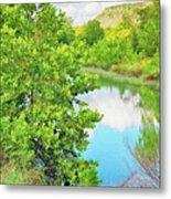Llano River Scenic Metal Print