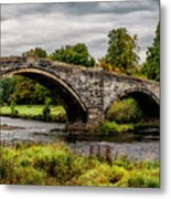 Llanrwst Bridge Panorama Metal Print