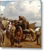 Loading At The Quarry Metal Print
