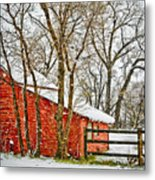 Loafing Shed Metal Print