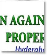 Loan Against Property In Hyderabad  Letzbank Metal Print