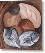 Loaves And Fishes Metal Print by Chelle Fazal